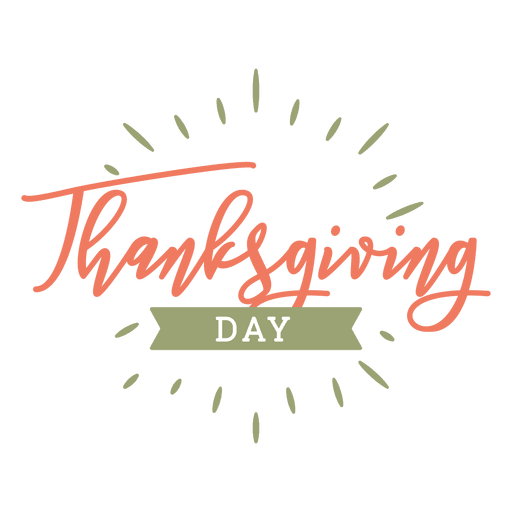 Thanksgiving day badge Transparent PNG