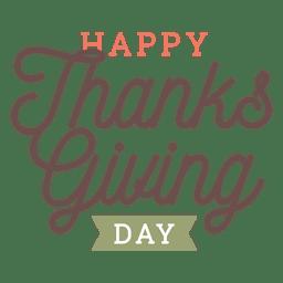 Insignia de saludos del día de acción de gracias.