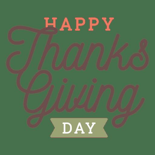 Insignia de saludos del día de acción de gracias. Transparent PNG