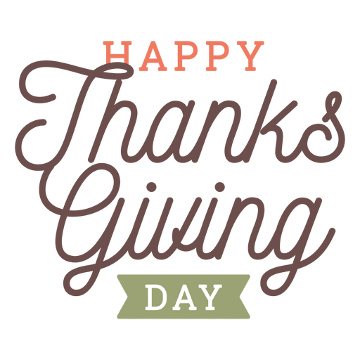 Thanksgiving day greetings badge Transparent PNG