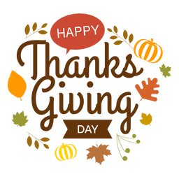 Logo del día de acción de gracias
