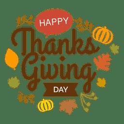 Logotipo del día de acción de gracias