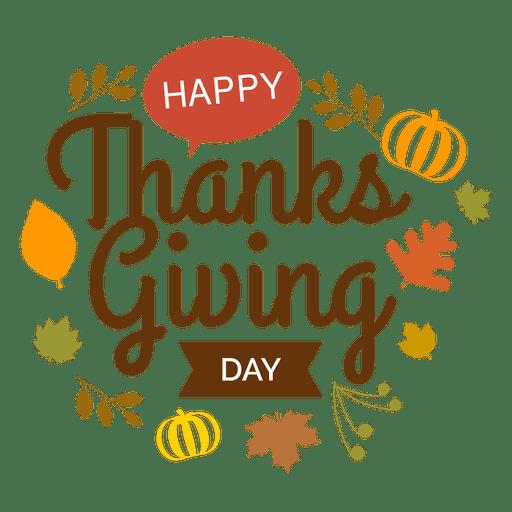 Thanksgiving day logo Transparent PNG
