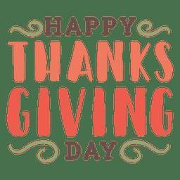 Selo de cumprimentos de Ação de Graças