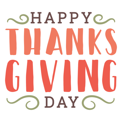 Thanksgiving greetings badge Transparent PNG