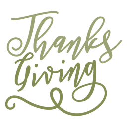 Thanksgiving handwritten text badge