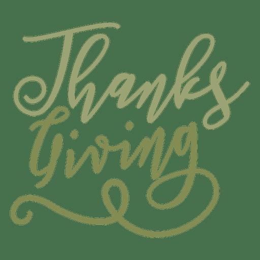 Thanksgiving handwritten text badge Transparent PNG