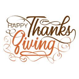 Thanksgiving handwritten text logo