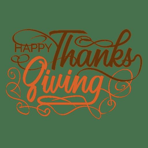 Día de Acción de Gracias texto manuscrito logotipo Transparent PNG