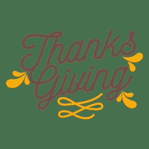 Crachá de feriado de ação de Graças Transparent PNG