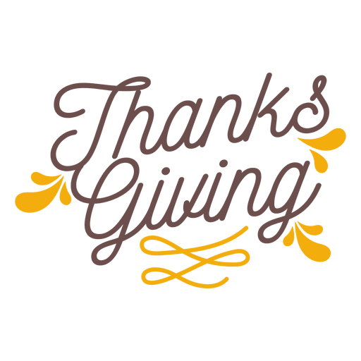 Thanksgiving holiday badge Transparent PNG