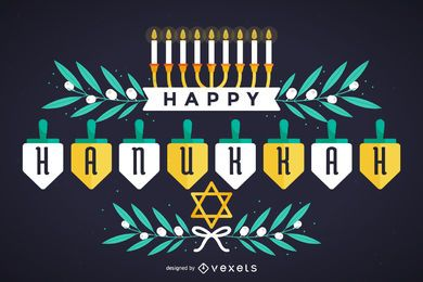 Feliz Hanukkah design