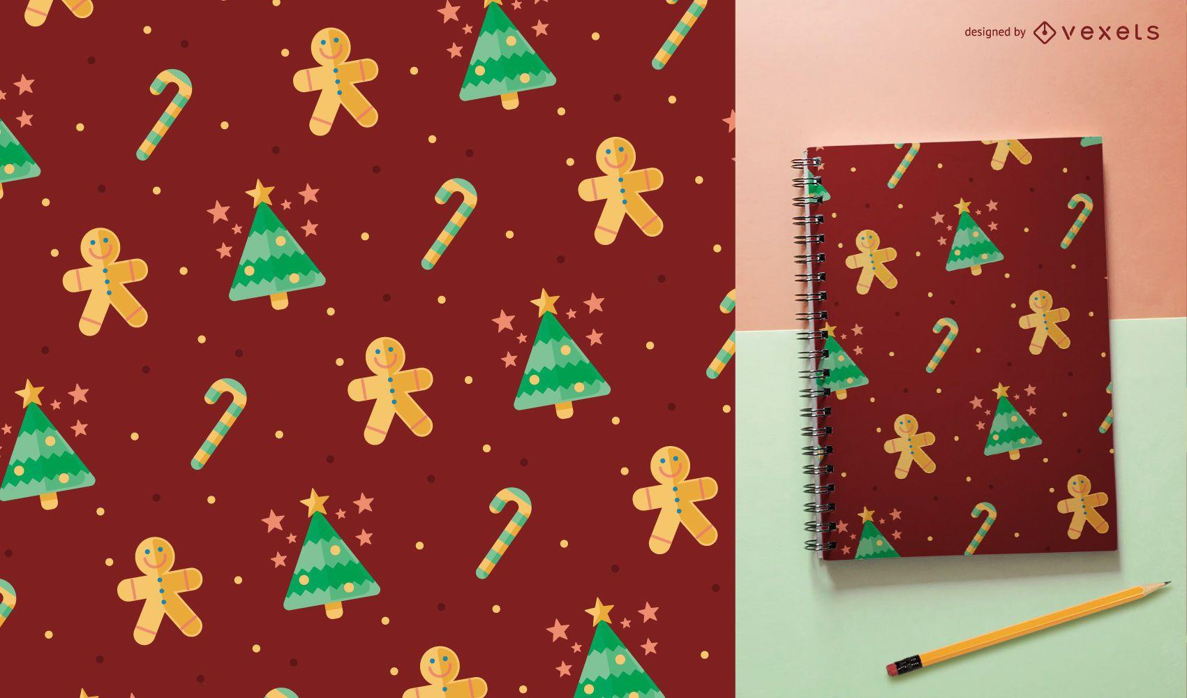 Lindo patrón sin costuras de Navidad