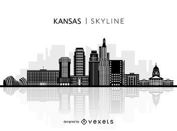 Silhouette of Kansas skyline