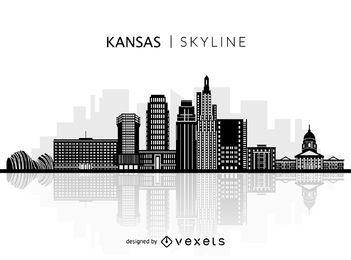 Silueta del horizonte de Kansas