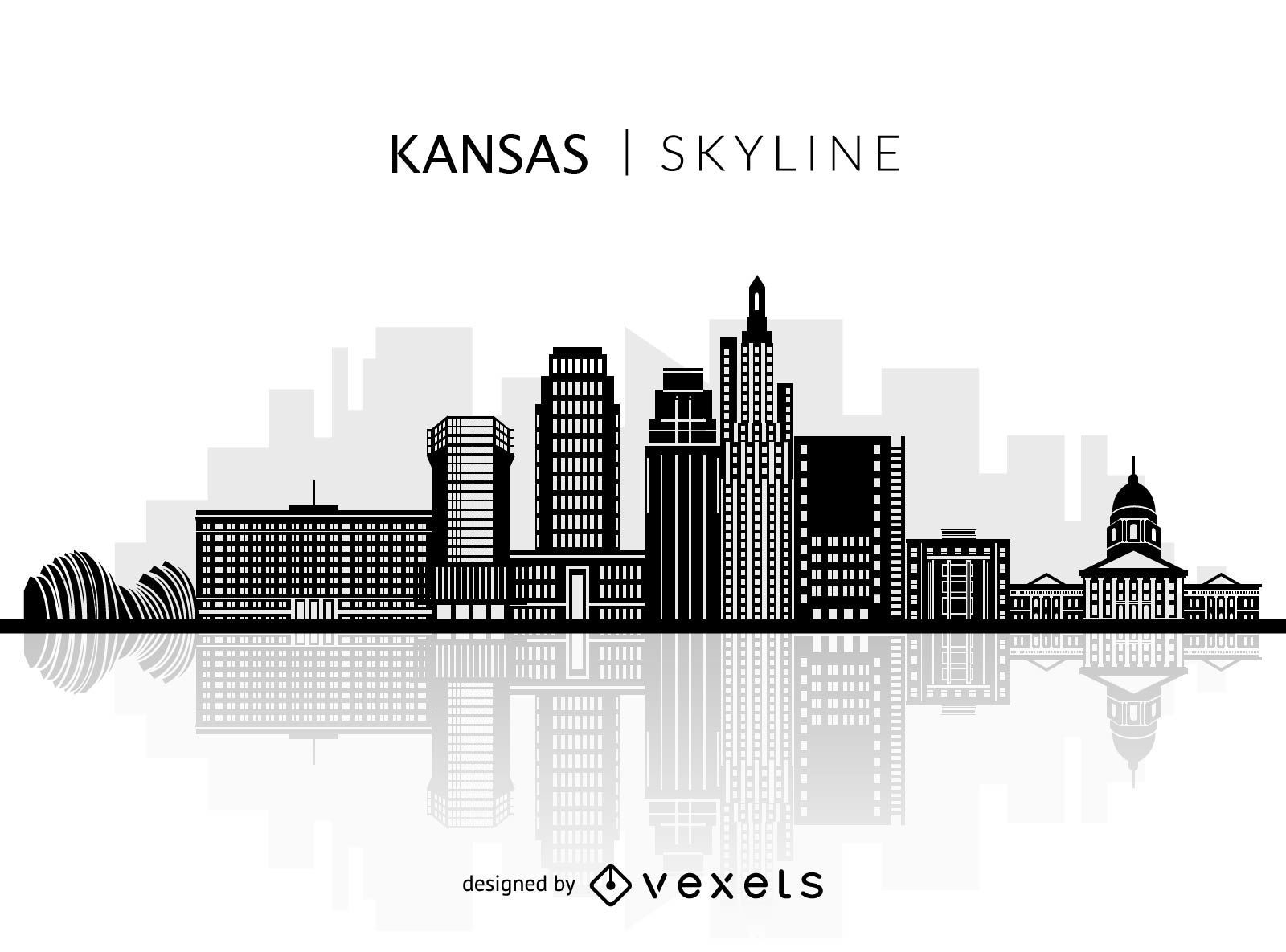 Silhouette of Kansas skyline