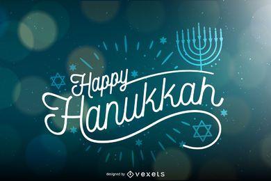 Fundo de Hanukkah com bokeh