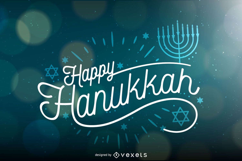 Hanukkah background with bokeh
