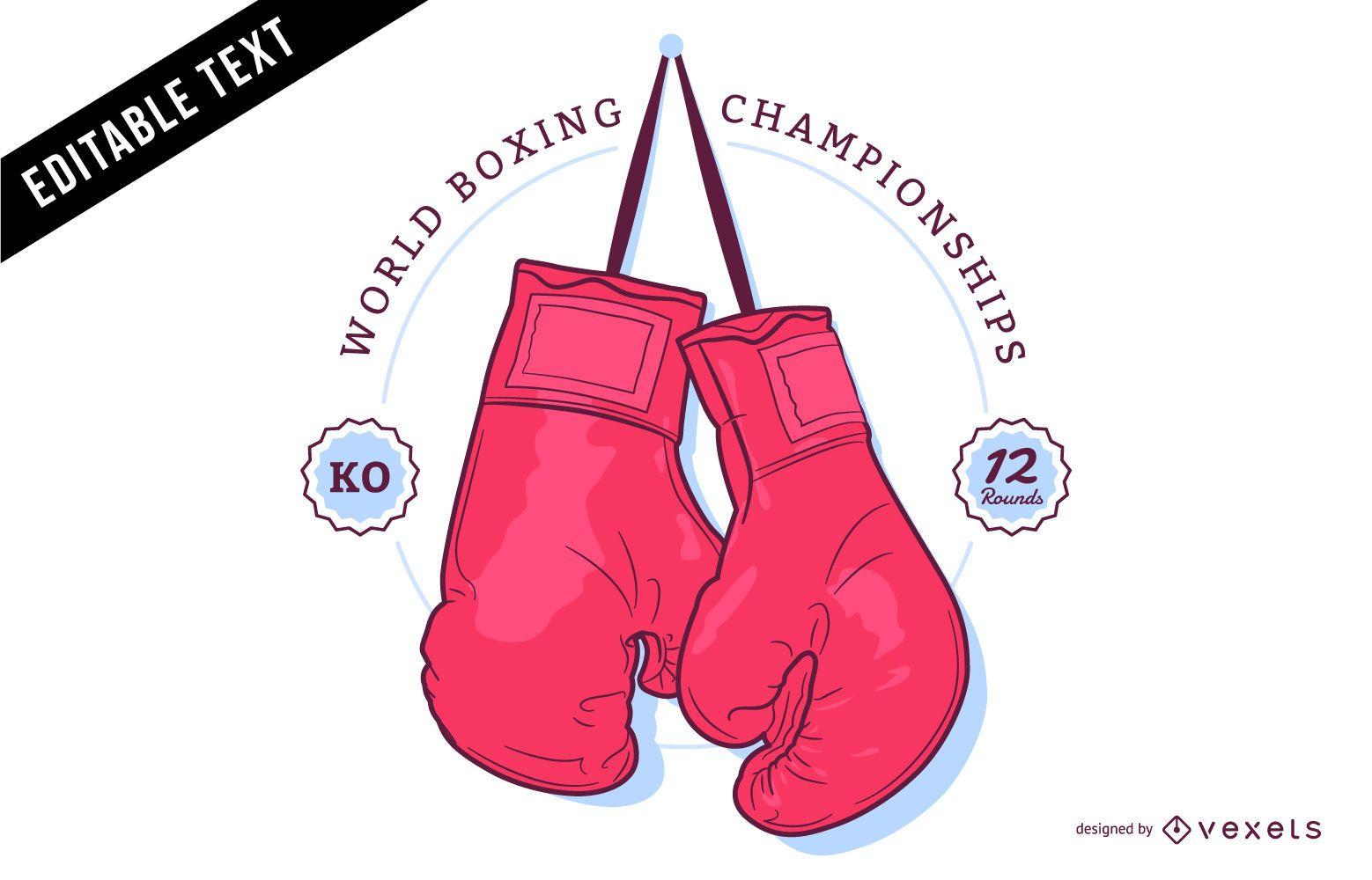 Illustrated boxing logo