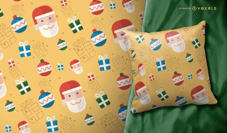 Santa Claus Christmas pattern illustration