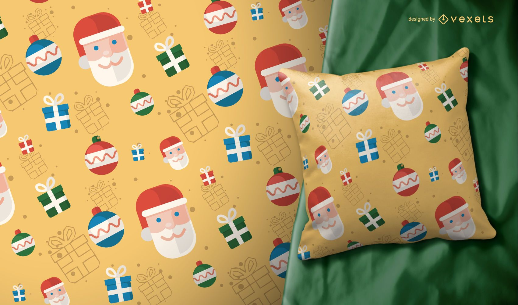 Ilustración de patrón de Navidad de Santa Claus