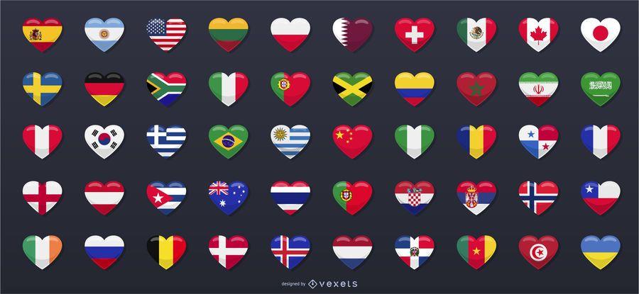 Banderas del país Rusia 2018 Copa del Mundo
