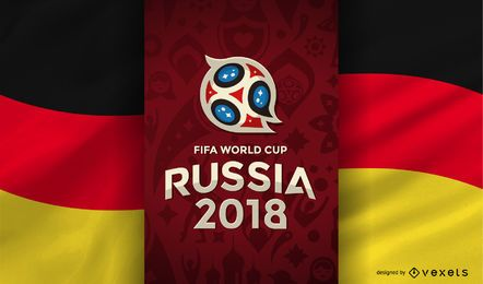 Rússia 2018 Copa do Mundo Bandeira alemã
