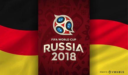 Rusia 2018 Copa del mundo bandera alemana