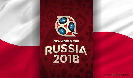 Rússia 2018 Copa do Mundo bandeira de Polônia