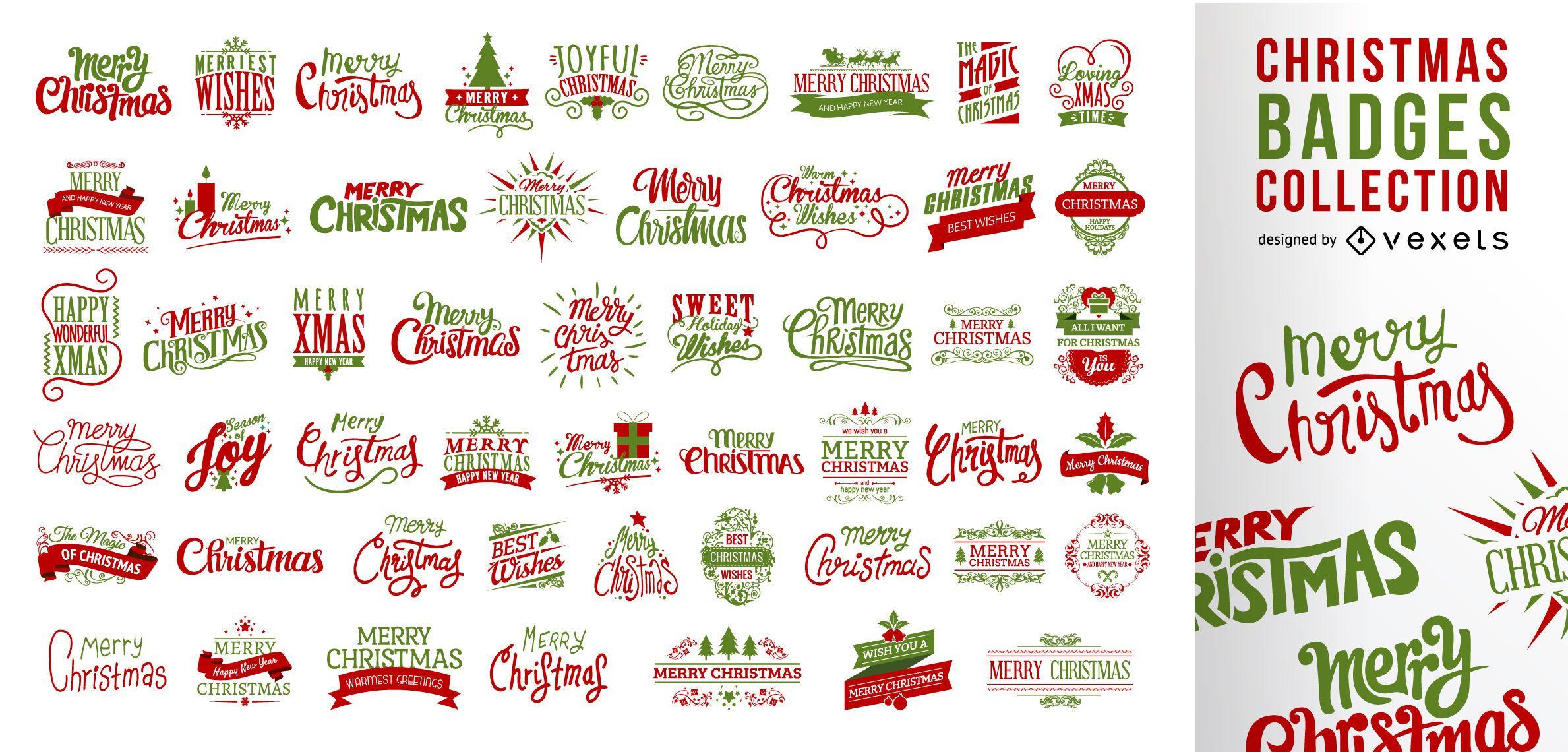 Riesige Sammlung von Weihnachtsabzeichen