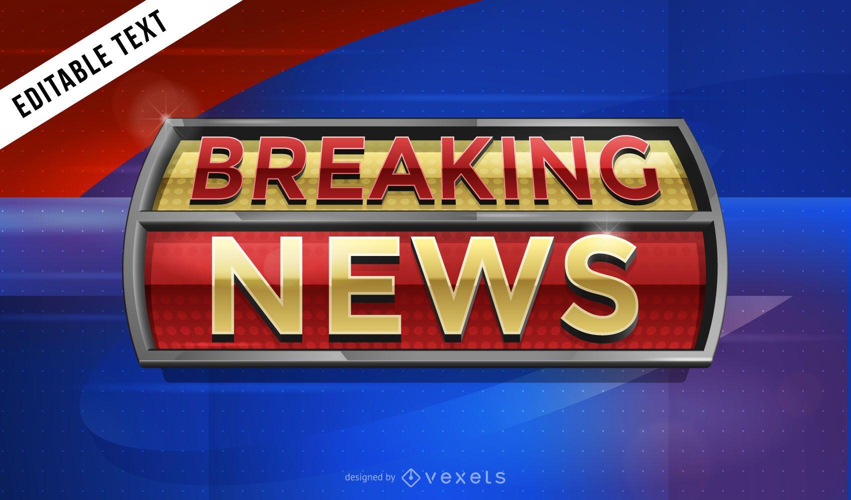 3D Breaking News TV graphics