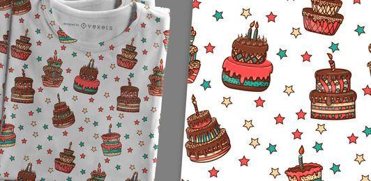 Handgezeichnete Kuchen Muster