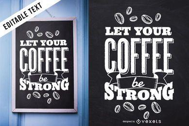 Diseño de café caligráfico