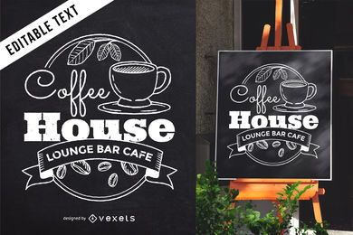 Cafe blackboard lettering sign