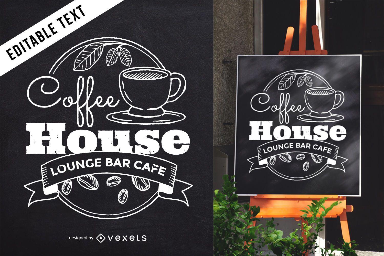 Cafe blackboard lettering sign