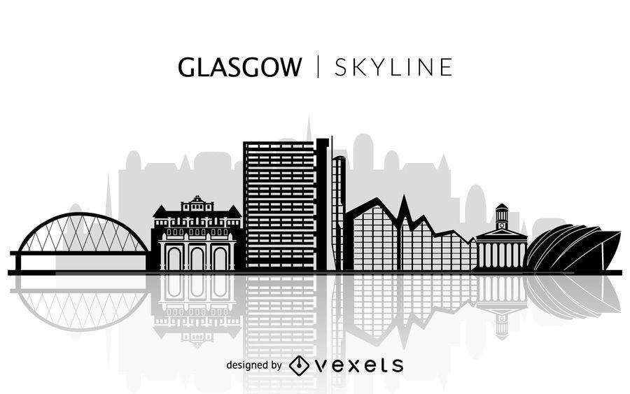 Glasgow Skyline Silhouette Vector Download