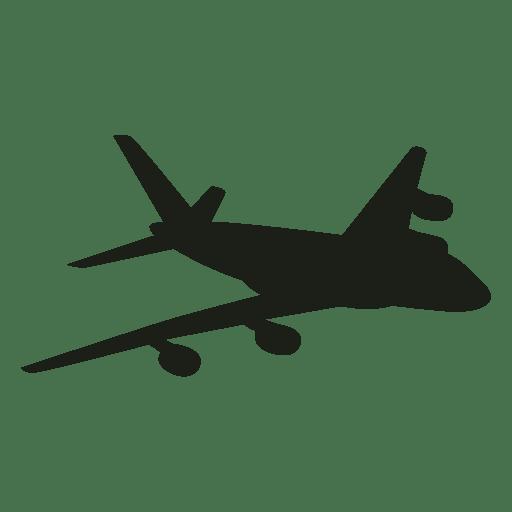 Avión Airbus en silueta de vuelo