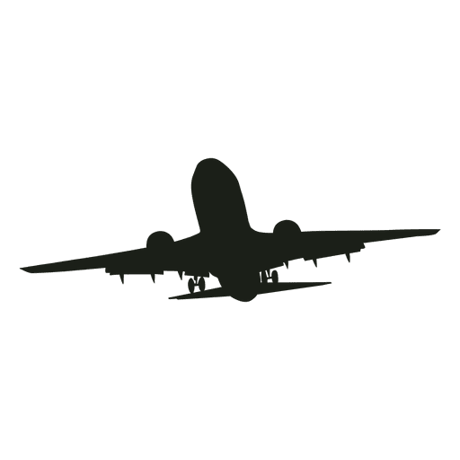 Airplane ascending silhouette