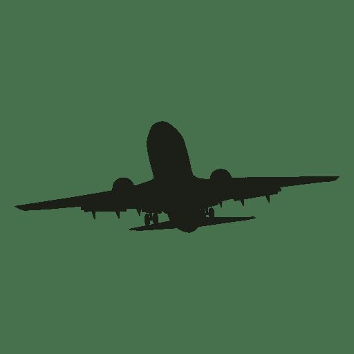 Avion silueta ascendente Transparent PNG