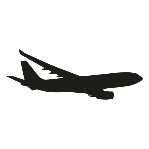 Airplane flying silhouette
