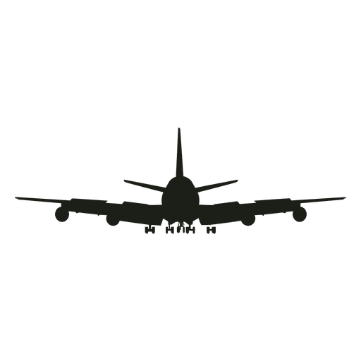Airplane silhouette front view