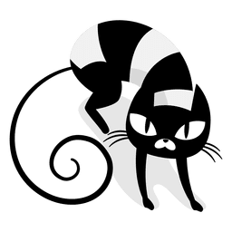 Angry black cat cartoon