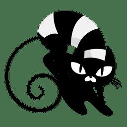 Dibujos animados de gato negro enojado