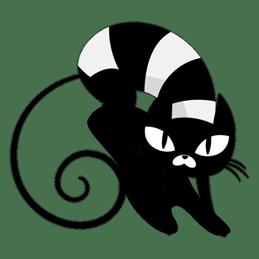 Angry Black Cat Cartoon Transparent PNG