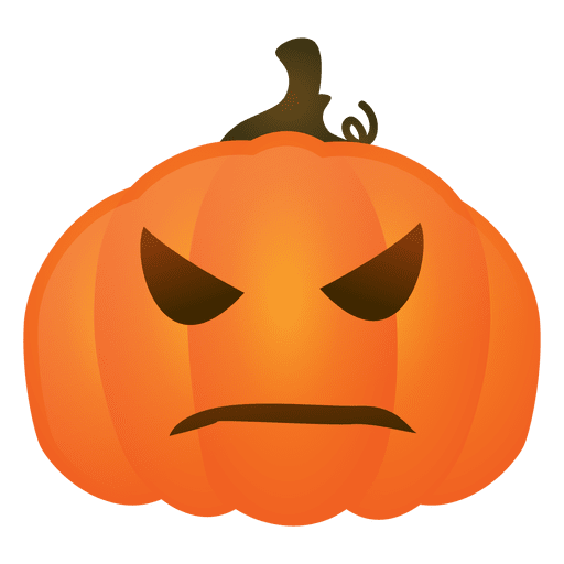 Angry halloween pumpkin Transparent PNG