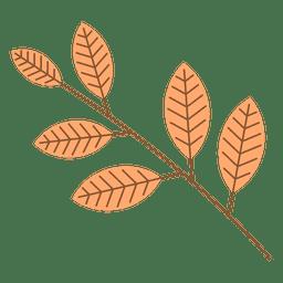 Rama de hojas de otoño