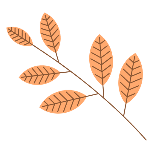 Autumn leaves branch Transparent PNG