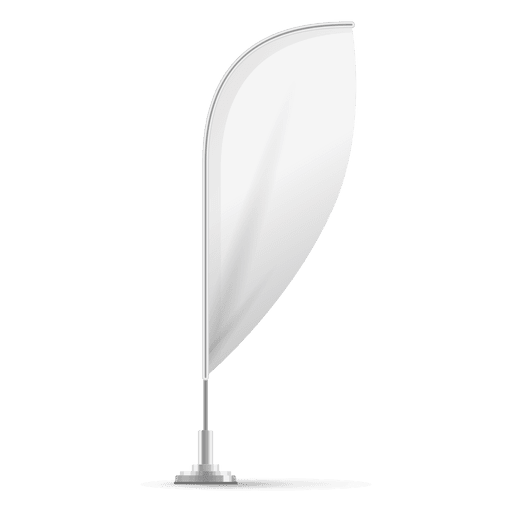 Blank feather convex flag Transparent PNG
