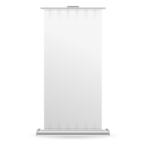 Blank roller banner front view Transparent PNG