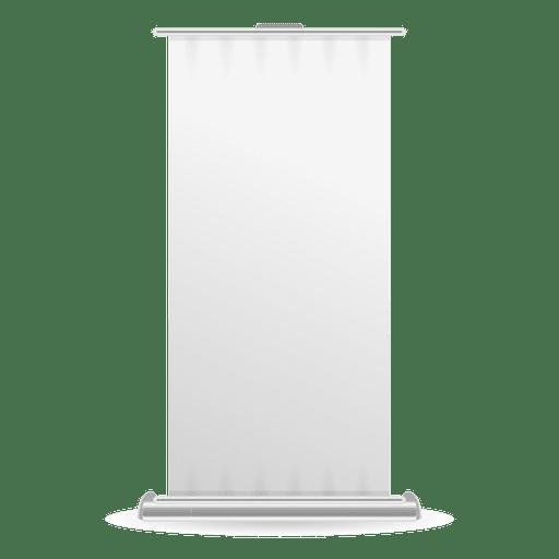Vista frontal de la pancarta en blanco